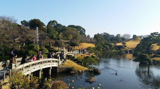 正月の水前寺公園